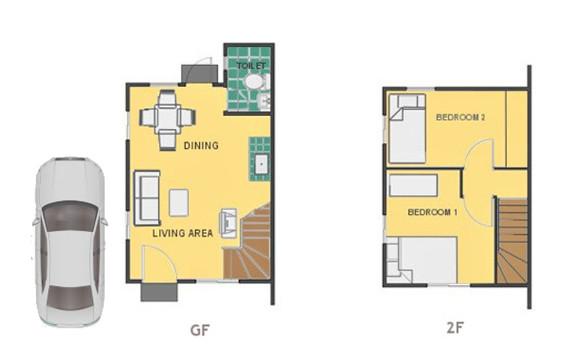 Mika Floor Plan House and Lot in Pampanga