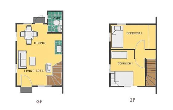 Mikaela Floor Plan House and Lot in Pampanga