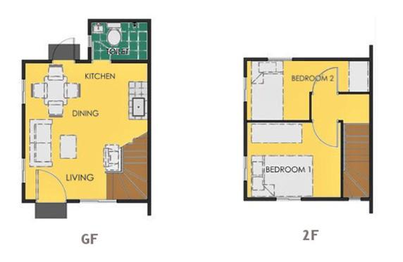 Ravena Floor Plan House and Lot in Pampanga
