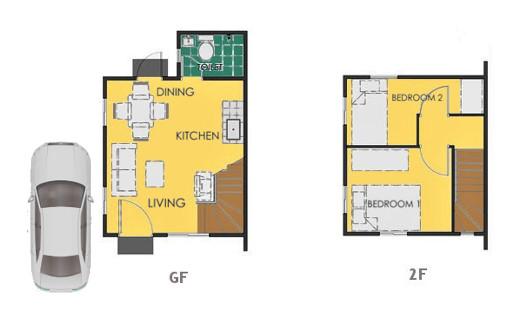 Reva Floor Plan House and Lot in Pampanga