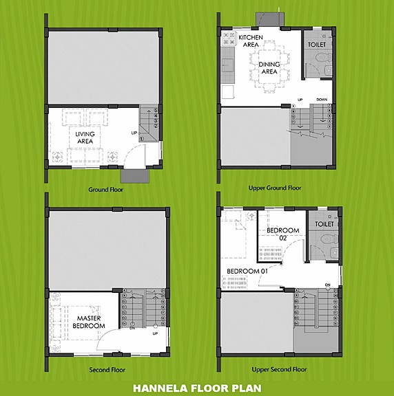 Hannela Floor Plan House and Lot in Pampanga