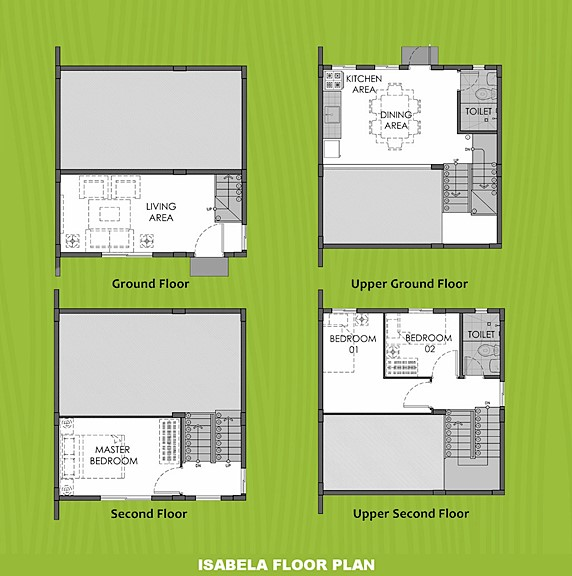 Isabela Floor Plan House and Lot in Pampanga