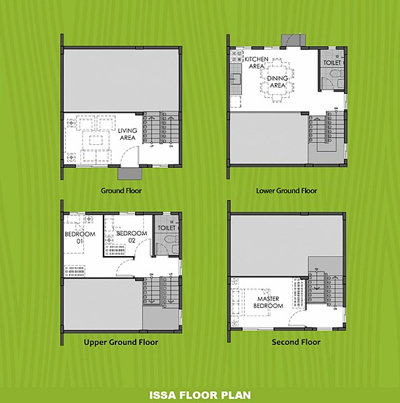 Issa Floor Plan House and Lot in Pampanga