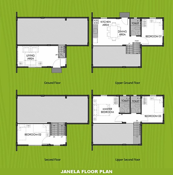 Janela Floor Plan House and Lot in Pampanga