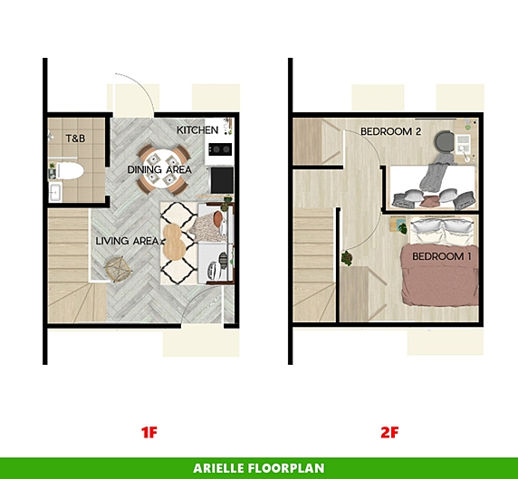 Arielle Floor Plan House and Lot in Pampanga