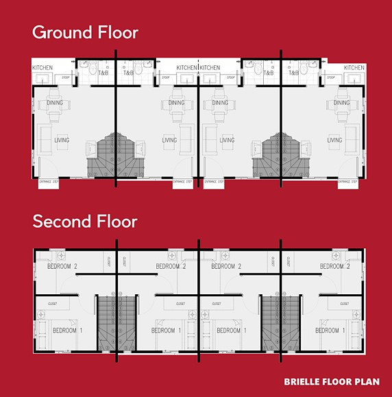 Brielle Floor Plan House and Lot in Pampanga
