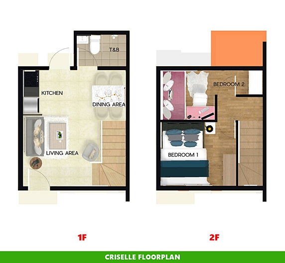 Criselle Floor Plan House and Lot in Pampanga