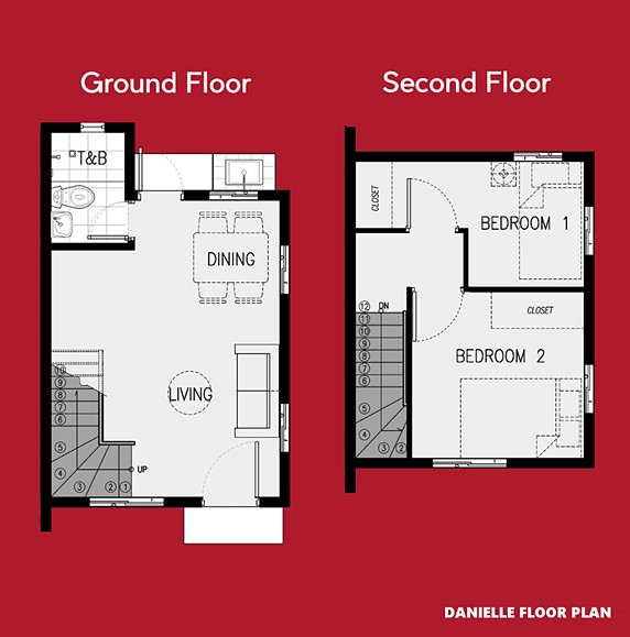 Danielle Floor Plan House and Lot in Pampanga