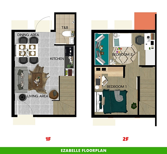 Ezabelle Floor Plan House and Lot in Pampanga