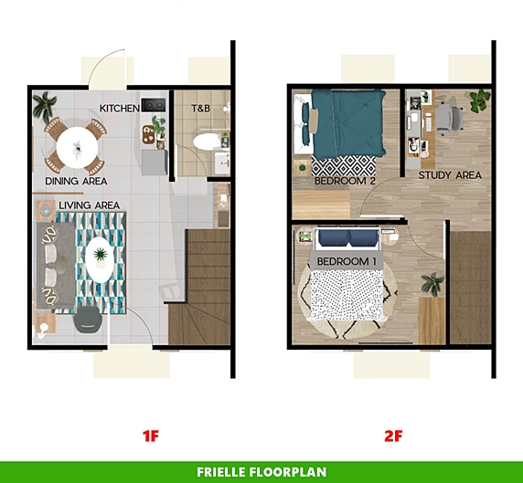 Frielle Floor Plan House and Lot in Pampanga