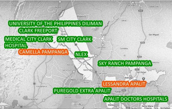 Pampanga Property Vicinity Map